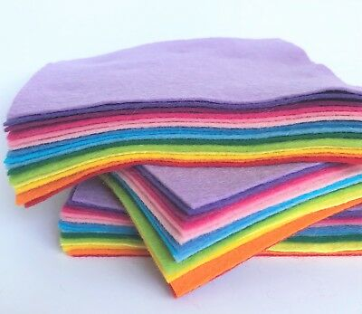 Wool Mix Felt 9 in squares x15 Over The Rainbow Bundle - Soft Craft Felt