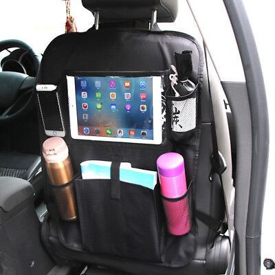 Car Seat Back Organiser Tablet Holder Protector Bottle Toy Kick Mat Storage