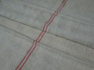 Antique European Feed Sack GRAIN SACK Red Stripe # 10386