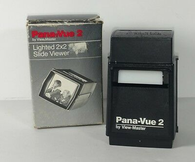 Pana-Vue 2 Lighted 2x2 Slide Viewer Finger Touch Switch By View Master
