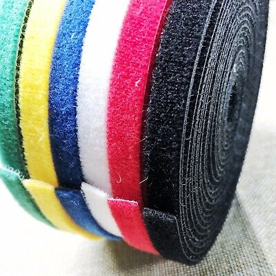 10mm X 1M length hook and loop Fastening Cable Ties Self-gripping Zip Strap Roll