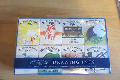Packet Of 8 Winsor & Newton Drawing Inks