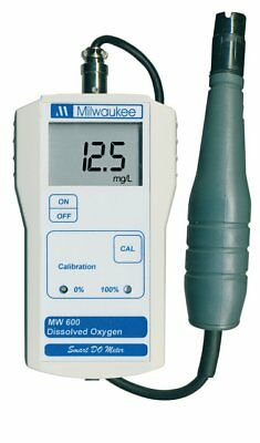 Milwaukee MW600 LED Economy Portable Dissolved Oxygen Meter with 2 Point Manual
