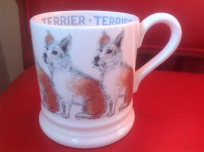 Emma Bridgewater Pottery New Mug Terrier Rough Haired Dogs 1/2 Pint