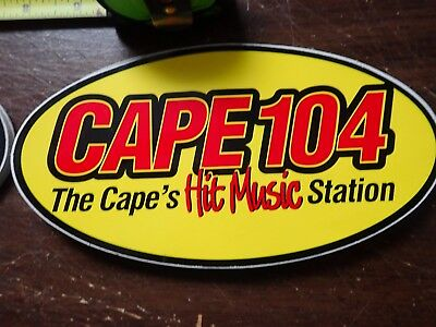 Radio Station Bumper Sticker - Wkpe Fm Cape 104 - Yellow Background