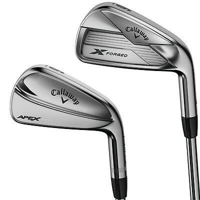 New 2018 Callaway X Forged (3-7) / Apex MB (8-PW) Combo Iron Set - RH Steel