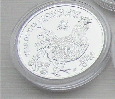 A Royal Mint 2017 Lunar Rooster silver 1oz coin