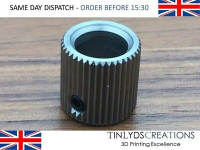 40 Teeth 8mm Bore Mk7/8 Extruder Drive Gear Stainless Steel 3D Printer Part
