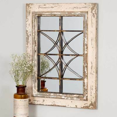 Vintage Rustic Country Style Windsor Wall Mirror Decorative Accent Hanging Decor