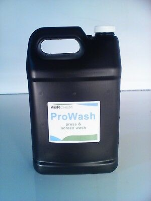 Kor-Chem ProWash  -  Press and Screen Wash  - one gallon bottle