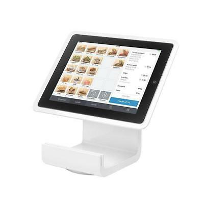 Square Stand For ipad® 4 With Lightning Connector Card Reader, White