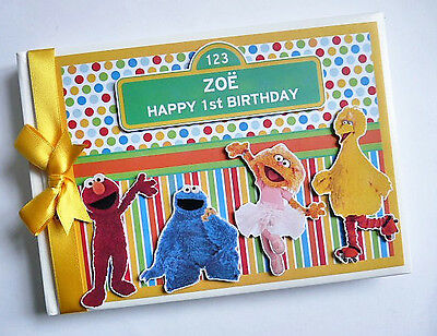 Personalised Sesame Street First/1St Birthday Guest Book Any Design
