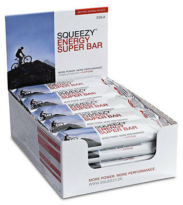 Squeezy Energy Super Bar Karton 20 Riegel 50g Cola *Mindesthaltbarkeit 04-2018*