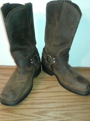 5d7684d7071 CODY JAMES BROWN Leather Square Toe Harness Motorcycle Boots #cj9995Br Mens  8.5M