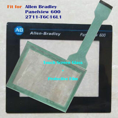 for Allen Bradley Panelview 600 2711-T6C16L1 Touch Screen Panel +Protective Film