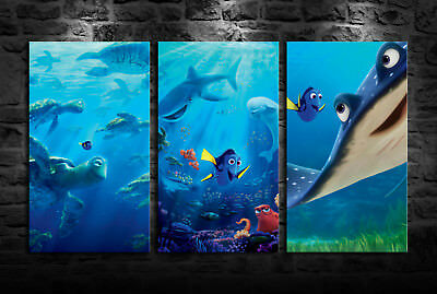 HD Print Oil Painting Home Decor Art on Canvas Finding Nemo 3PCS Unframed