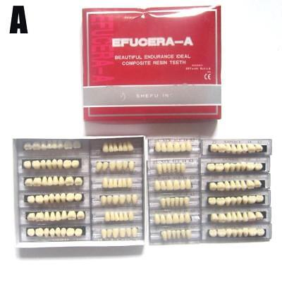 6 Sets Synthetic Polymer Resin Denture Teeth A3/A2 Upper + Lower Dental Set NEW
