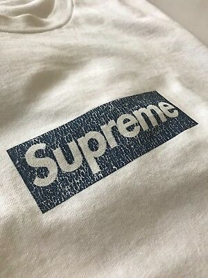 e3a3e909c7bd SUPREME NEW YORK yankees box logo bogo tee shirt size large ...