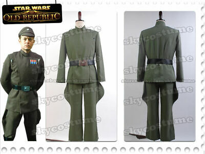 Star Wars Imperial Officer Naval/Senior Cosplay Costume Olive-Green Uniform Suit