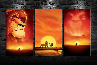 HD PRINT OIL Painting Home Decor Art On Canvas The Lion King 3PCS Unframed