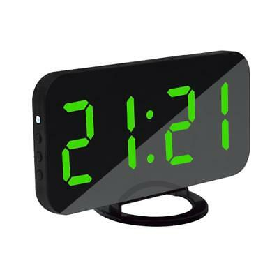 LED Digital Alarm Clock USB Charging Port for Cellphone Charger Snooze Green