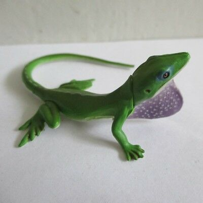 green Anole lizard mini figure miniature reptile doll PVC toy Kaiyodo Furuta 142
