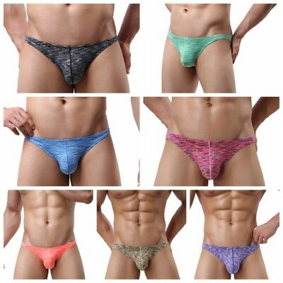 USA Men's Cotton Underwear Bulge Pouch Briefs Thongs G-String Shorts Underpants