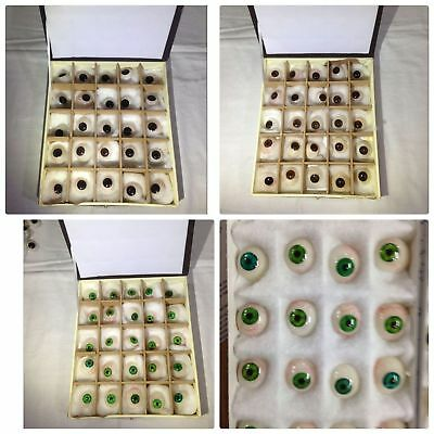 Artificial Eyes/Prosthetic Eyes Set-25 Brown,25 Green,25 Blue,25 BlackEyes