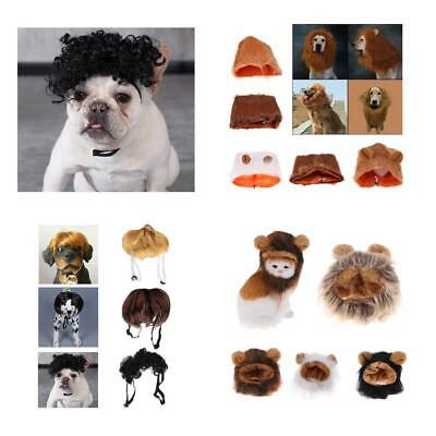Pet Costume Lion Mane Wig for Cat Dog Halloween Clothes Festival Fancy Dress up