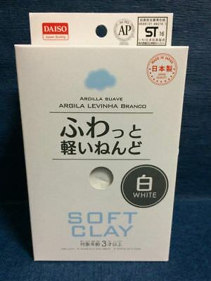 US Daiso Soft Clay White Colour DIY Arcilla Suave MADE IN JAPAN BUTTER SLIME