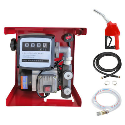230V Wall Mounted Diesel Electric Transfer Fuel Pump Kit - Automatic Nozzle