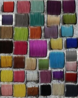 Faux Suede Cord approx. 3mm x 5m lots Various Colours