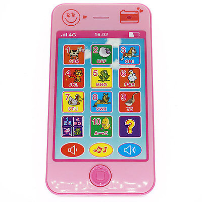 Pink Baby Kid Phone Music Touch Screen Educational Learning Study Phone 5S 5 Toy