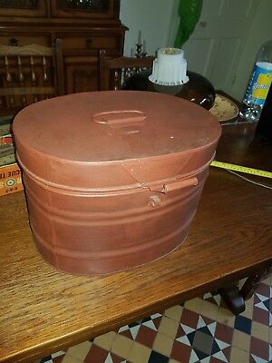Large Antique Victorian Metal Hat Box