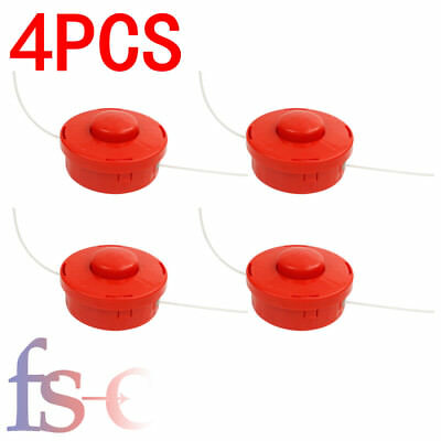 4X Universal Strimmer Mower Replace Bump Feed Line Spool Head Fits Brush Cutters
