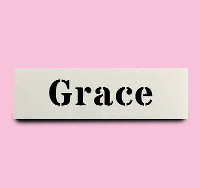 GRACE STENCIL girls name 30mm tall120mm wide ALPHABET STENCIL LETTERS Lettering