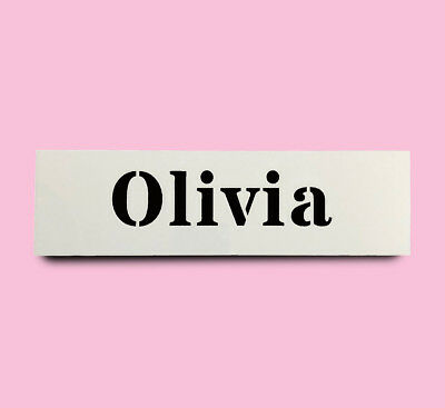 OLIVIA STENCIL girls name 30mm tall 120mm wide ALPHABET STENCIL LETTER Lettering