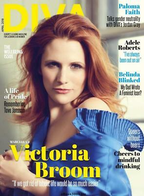 Diva Magazine April 2018 Victoria Broom / Paloma Faith Lesbian Lifestyle