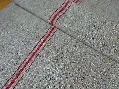 Antique European Feed Sack GRAIN SACK Red Stripe # 10436