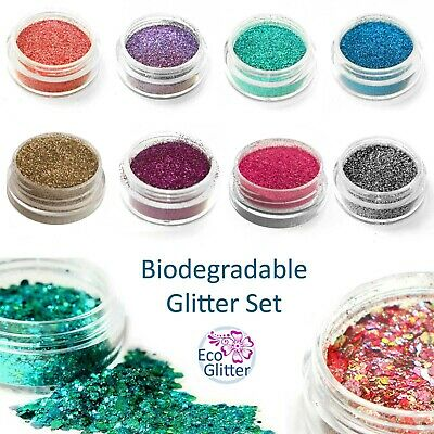 Biodegradable Glitter Set - ALL OF THESE 3ml POTS £12.99 - 2 Chunky Blends Kda