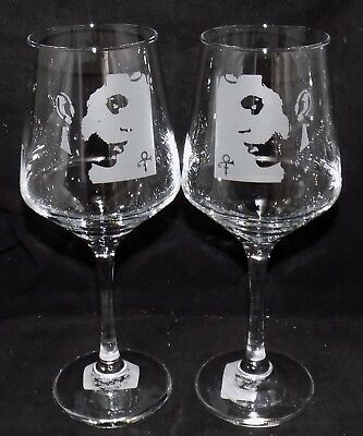 """New Etched """"PRINCE"""" Wine Glass(es) - Free Gift Box  - Large 390mls Glass"""