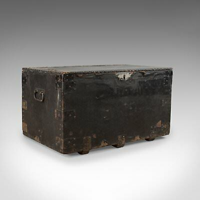 Antique Tool Chest, English, Victorian, Metal Bound, Mahogany, Trunk Circa 1900