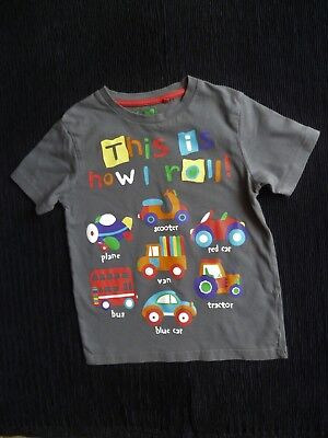 Boys clothes 4-5 years dark grey multi vehicles short sleeve t-shirt SEE SHOP!