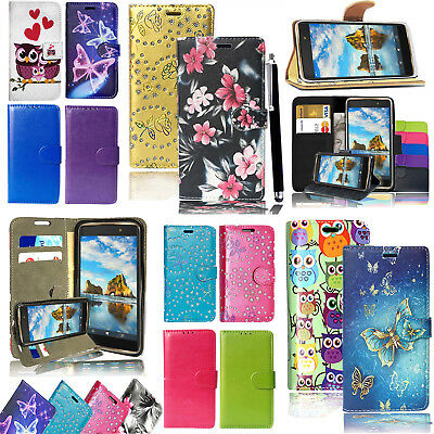 PU Leather Flip Card Stand Wallet Case Stand Cover - For Sony Xperia XZ2