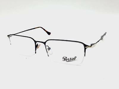 $350 PERSOL MENS BLACK EYEGLASSES FRAMES GLASSES HAND MADE ITALY LENSES 2395-V