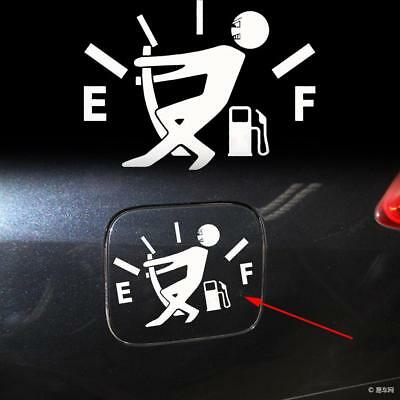 White Funny Pull Fuel Tank Pointer To Full Hellaflush Vinyl Car Sticker Decal
