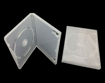 C111 87X CD DVD Case for 1 CD or DVD Semi-Transparent 14mm