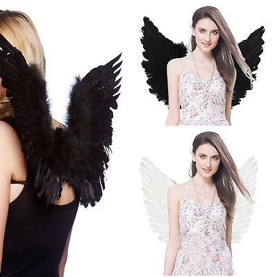 Chirstmas Feather Wings Angel Fairy Adults Kid Fancy Dress Party Costume Fashion