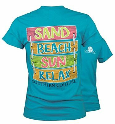 SC Classic Sand Beach Sun Sign Womens Classic Fit T-Shirt - Tropical Blue, Small