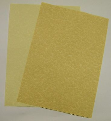 A4 PRINTABLE PARCHMENT PAPER - NATURAL or AGED - 90gsm
